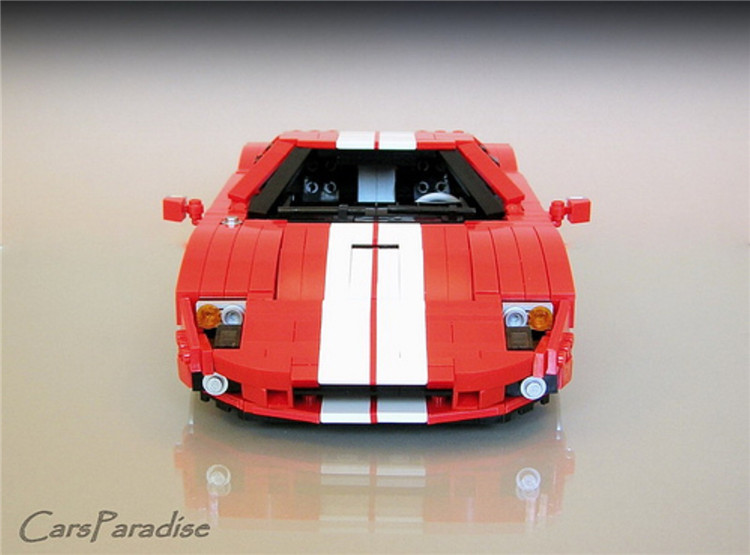 XINGBAO XB-03011 The Red Phantom Racing Car Ford GT-919 Building Block 13