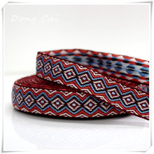6yards/lot 20MM 2CM Diamond pattern woven jacquard ribbon Soft Household act the role ofing is tasted decorative lace Zakka DIY