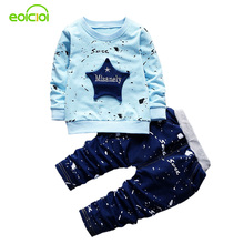 EOICIOI 2017 spring autumn starfish pattern baby boys clothes cotton hoodies+jeans outfit kids costume 2pcs