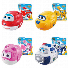 4 models Egg Super Wings Deformation robot Action Figures Toys 7.5*11 cm Transformation robot Toys for birthday gift Brinquedos(China)