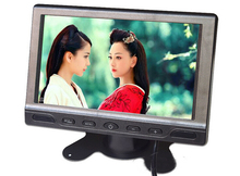 7 Inch Car Headrest Stand-Alone Bus Truck 800 x 480 TFT LCD Monitor Retail/Pc Free Shipping