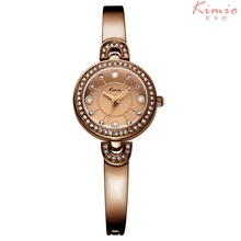 2017 Promotion Lady Style Brand Kimio Rose Gold Watch Full Stainless Steel Woman Pearl Diamond Jewelry Dress Relogio Feminino