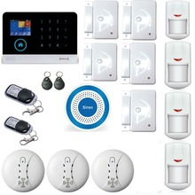 YB103 Wireless Home Security GSM Alarm System Android ISO App Control Burglar Alarma WIFI GSM Alarma With 3 Smoke Detector