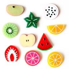 Cute Fruit Resin Fridge Magnet 3D Refrigerator Magnets Stickers Magnetic Home Accessories Kids Toy 10pcs/lot Drop Shipping