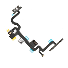 10Pcs/lot New Power On Off Button Flex Cable for iPhone 7 with Volume Mute Switch Flex Cable Replacement Repair Parts(China)