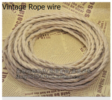 5m/lot 2x0.75 Vintage rope  Wire Twisted Cable Retro Braided Electrical Wire Fabric Wire DIY pendant lamp wire vintage lamp cord