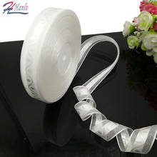 HANLV 2 rolls (90 meters) white jacquard organza ribbon packing belt wedding party decoration DIY crafts R090(China)