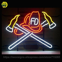 Neon Sign for Fire Fighter neon Bulbs Signs Sport Lamp Handcrafted Glass Tube Recreation Room Unique Artwork China Factory Price(China)