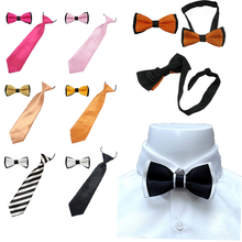 2PCS New Arrival Children's Kids Ties Bowtie Wedding Boys Bow Tie Matching Colors Clothing Accessories YHHtr0011(China)