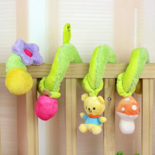 Baby Rattles Infant Toys Cute Bear Green Bell Spiral Activity Stroller Car Seat Cot Lathe Hanging Baby Play Travel Toys(China)