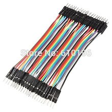 410CM 2.54MM Row Male Dupont Cable Breadboard Jumper Wire arduino - Aihasd Online Store store