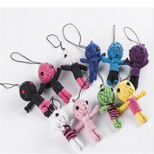 Wholesale Hot Selling New Style Voodoo Doll Keychains / Voodoo Mobile Pendant/Kids Toy JC5