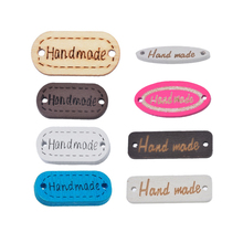 "Hoomall Brand Wooden Buttons ""Handmade"" Letter Sewing Buttons 2 Holes Scrapbooking Crafts DIY 20-50PCs Multicolor(China)"