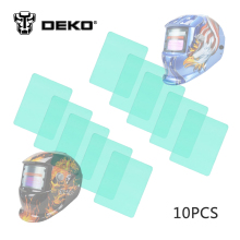 DEKOPRO 10 Pcs 11.5x9x0.1cm Auto Darkening Welding Helmet Outside Exterior Cover Lens for S500(China)