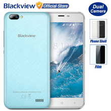 New Blackview A7 Dual Rear Cameras Smartphone 5.0 inch HD MTK6580A Quad Core Android 7.0 1GB RAM 8GB ROM 5MP Cam 2800mAh Battery