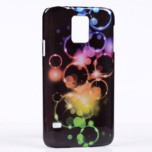 New circle bubble flashing light colors stars hard plastic Case For Samsung GALAXY S5 i9600 back Cover protector shell skin(China)