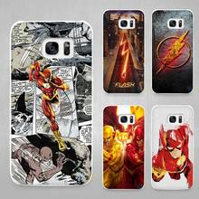 Flash Man Superhero Hard White Coque Shell Case Cover Phone Cases for Samsung Galaxy S4 S5 S6 S7 Edge Plus(China)