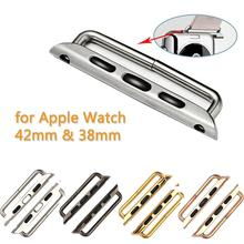 ProBefit 1 Pair Seamless Metal Connector Clasp Watch Band Buckle Connection Adapter for Apple Watch 38mm 42mm with Screwdriver(China)