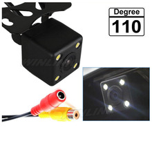 110 Degree Night Vision Waterproof Car Rear View Camera with 4 LED Lights Reverse Backup Camera(China)