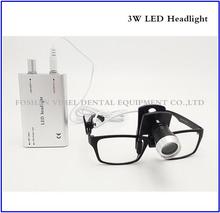Promotion! Portable black LED Head Light Lamp for Dental Surgical Medical Binocular Loupe Silver
