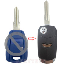car Key shell For fiat 1 button Remote flip Conversion Folding type KIT Replacement Transponder Switchblade key with fiat logo