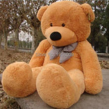 free shipping 5.9 FOOT TEDDY BEAR STUFFED LIGHT white GIANT JUMBO size:180cm  Valentine's day gifts