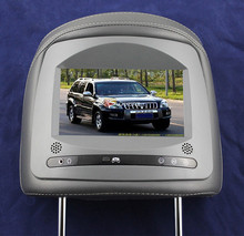 "Fashionable digital screen 7"" Headrest Car Monitor Player with dual videos input fit for Toyota Prado"