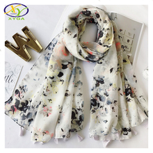 1PC 180*100cm2017 Spring New Acrylic Cotton Women Tassels Long Fashion Scarf Summer Thin Woman New Viscose Voile Pashmina Shawls