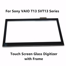 Touch Screen Digitizer Glass Lens with Bezel Replacement Repairing Part For Sony Vaio T13 SVT13 SVT131A11M SVT1312B4E SVT131A11T