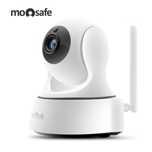 Moosafe Home Security IP Camera Wireless Mini Surveillance Camera Wifi 720P Night Vision Two Way Audio Baby Monitor