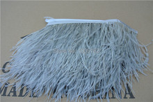 Free Shipping 20 Yards/lot glass gray Ostrich Feather fringe Ostrich Feather trimming fringe 5-6inch in width for sewing decor