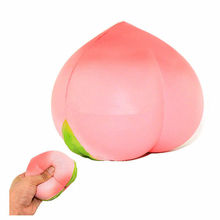 10CM Peach Squishy Slow Rising Kawaii Juicy Cute Phone Straps Pendant Sweet Cream Scented Toy Hand Grips Muscle Power Training(China)