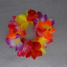 2017 Hawaiian Flower Lei Hula Garland Wreath Headband For Women Girls Wedding Beach Party Fancy Dress Supplies