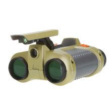 1Pc Hot Selling Binocular 4x30mm Night Vision Viewer Surveillance Spy Scope Binoculars Pop-up Light Tool(China)