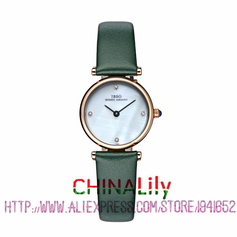 2015 Selling Brand IBSO BOERNI AIBISINO Unisex Ultra Thin Round Dial Analog Wrist Watch with Waterproof &amp; Leather Band 2210<br><br>Aliexpress