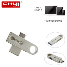 CHYI New Mini OTG Waterproof Type C USB 3.0 Flash Drive 16/32/64GB PC Tablet Smartphone Memory Stick Pen Gadget - Nice memory Co., Ltd store