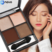 Eye Shadow Palette Pigment 4 Colors Eye Shadow Powder Metallic Shimmer Warm Earthy Color Makeup Eyeshadow Palette(China)