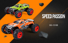 SUBOTECH BG1510B 1 : 24 2.4GHz Full Scale High Speed 4WD Off Road Racer Electric RC Monster Truck Remote Controll Car(China)