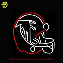 Atlanta Falcons Helmet 1966 1969 Logo NFL Neon Sign Neon Bulb Glass Tube Handcrafted Art Neon Lights Affiche Publicidad 24x20(China)