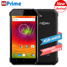 Original NOMU S30 Mobile Phone IP68 Waterproof 5.5 Inch Android 6.0 Cell Phone 4GB RAM 64GB ROM 13MP Smartphone 5000mAh Phone(China)