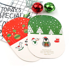 3D Pop Up Merry Christmas Series Santa's Paper Greeting Postcards Wishes Craft DIY Festival Greet Cards Gift Kawaii Stationery