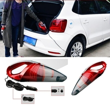 pretty Car Portable Super Cyclone Handheld Vacuum Cleaner for Car/Vehicle 12V 120W Red M26(China)