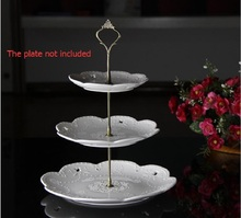 1pc 3 Layers cake dessert fruit plate stand European Style wedding Birthday party Desktop decor zinc alloy cake Plate holder