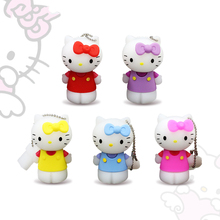 Pendrive 128gb usb flash drive 4GB 8gb 16gb Cartoon Cat pen drive 32GB Usb Stick Flash Drive Memory stick 32 gb USB Flash(China)