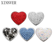 Buy 10pcs/lot High Snaps Jewelry Crystal Heart Snaps Button Fit 18mm Snap Bracelet Bangle DIY Women Men Jewelry for $4.48 in AliExpress store