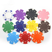 20Pcs/set foreign trade hot anti-counterfeiting plastic ABS chips, no par value blank chips Poker Chips