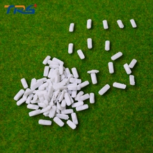100pcs miniature model car kits scale model cars 1:500 white mini plastic model cars