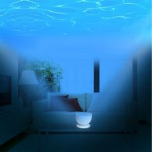 USB Ocean Night Light Projector with Music Player Blue Sea Daren Waves Projection Lamp Mini Portable Speaker(China)