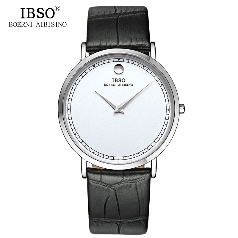IBSO Ultra Slim Men Watch 2017 Luxury Brand Genuine Leather Strap Casual Fashion Quartz Watch Men Waterproof Relogio Masculino<br><br>Aliexpress