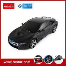 Rastar licensed 1:18 BMW I8 white stock inventory Manufacture price Four channel remote control RC Mini Car Toy for sale 59200